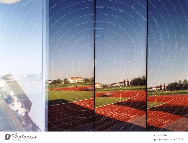 Sky House (Residential Structure) Sports Playing Soccer Lawn Infancy Racecourse Double exposure Stadium