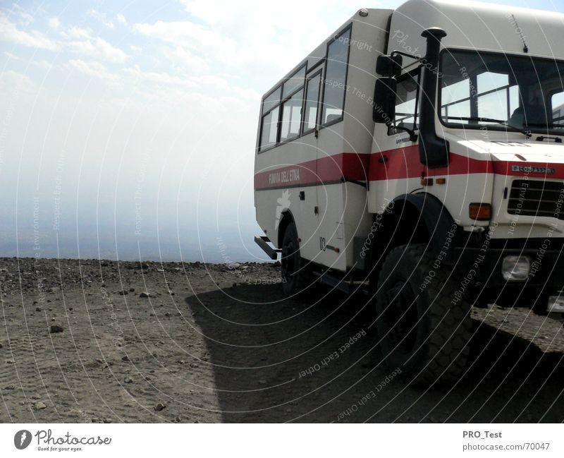 Sky Mountain Level Italy Truck Ashes Lava Sicily