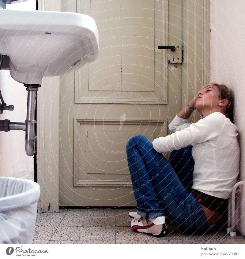Loneliness Fear Small Door Dangerous Threat Trash Scream Tile Castle Distress Narrow Door handle Flow Horror Bucket