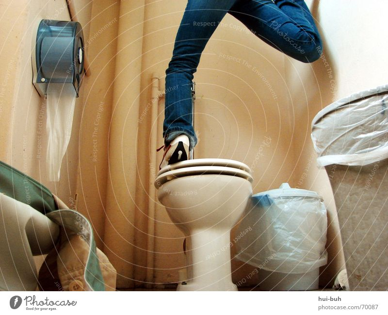 Footwear Legs Funny Small Tall Crazy Paper Floor covering Thin Trash Toilet Pants Under Pipe Rotate Bag