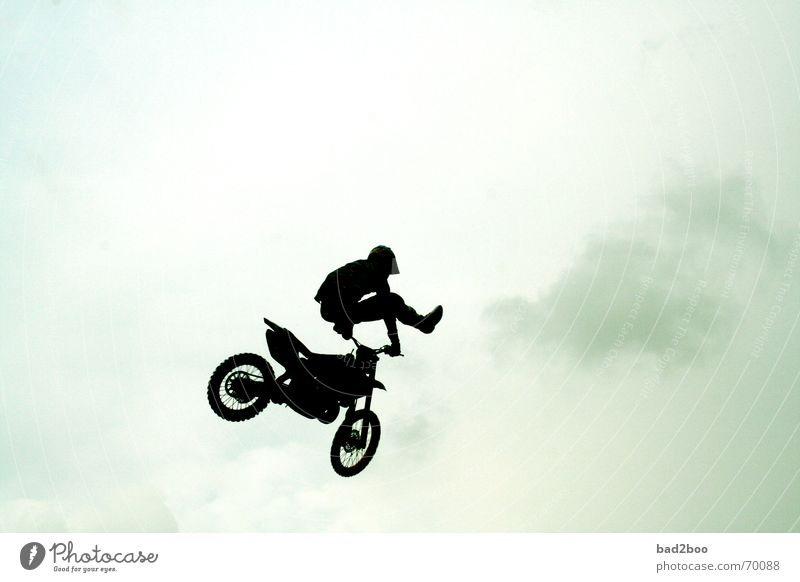 jump arround Motorcycle Vehicle Jump Hop Freestyle Motorcyclist springboard motocross Sports Sky Racing sports heaven