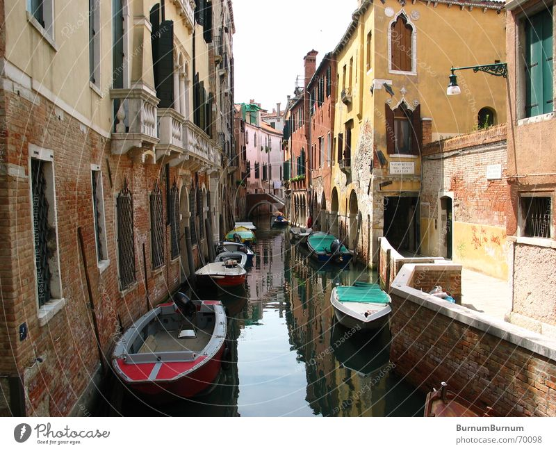 Water Calm House (Residential Structure) Watercraft Italy Decline Venice Sewer Waterway