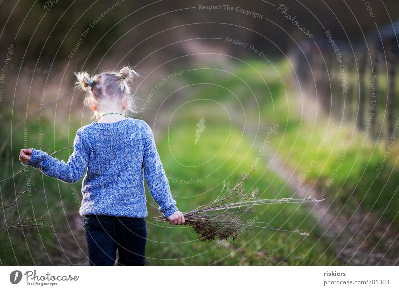 take your time. Human being Feminine Child Girl Infancy Life 1 3 - 8 years Environment Nature Sunlight Spring Autumn Beautiful weather Meadow Forest Relaxation