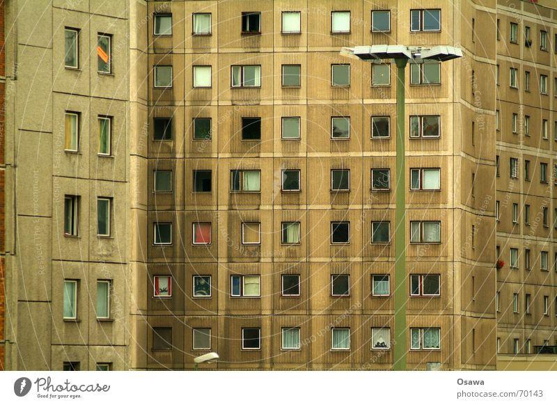 Berlin Window Flat (apartment) Concrete Facade Lantern Prefab construction Alexanderplatz Slum area