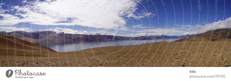 Sky Clouds Far-off places Mountain Lake Level Vantage point India Mountaineering Nepal Himalayas Ladakh Tsomoriri