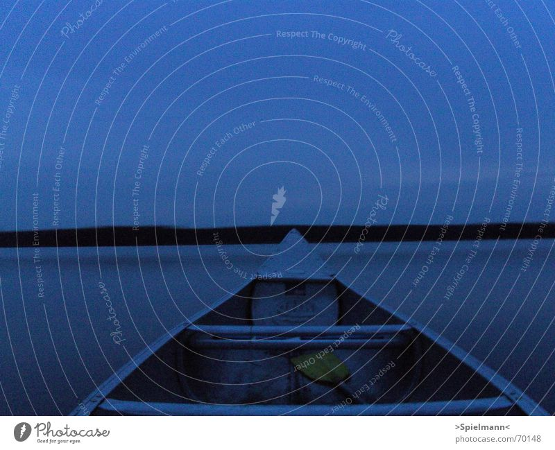 Water Sky Calm Lake Fish Canoe Dusk Sweden Calm