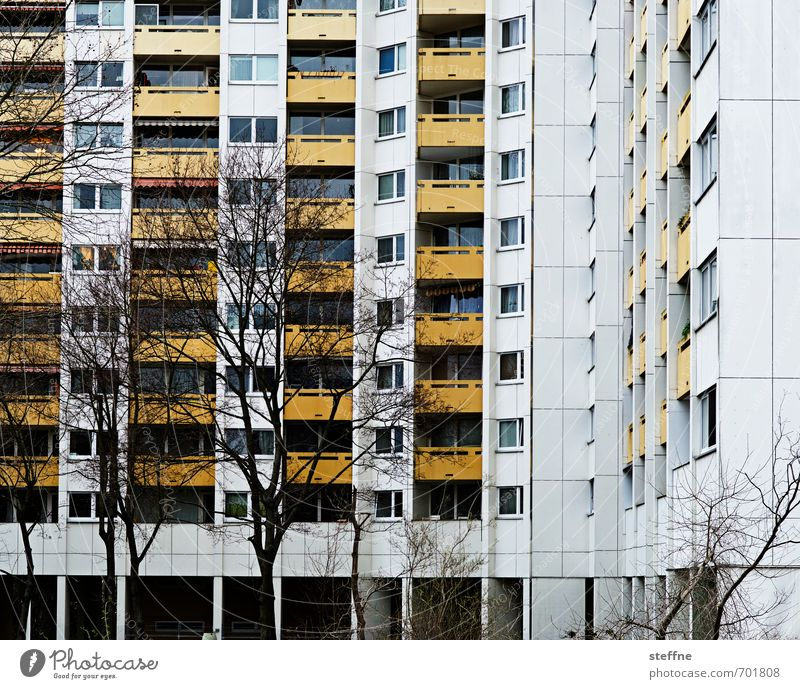 Around the World in Germany: Mainz House (Residential Structure) High-rise Gloomy Settlement Tree Town Deserted