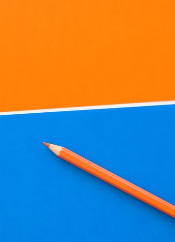 orange pencil Lifestyle Style Design Joy Education Science & Research School Study University & College student Work and employment Profession Office work