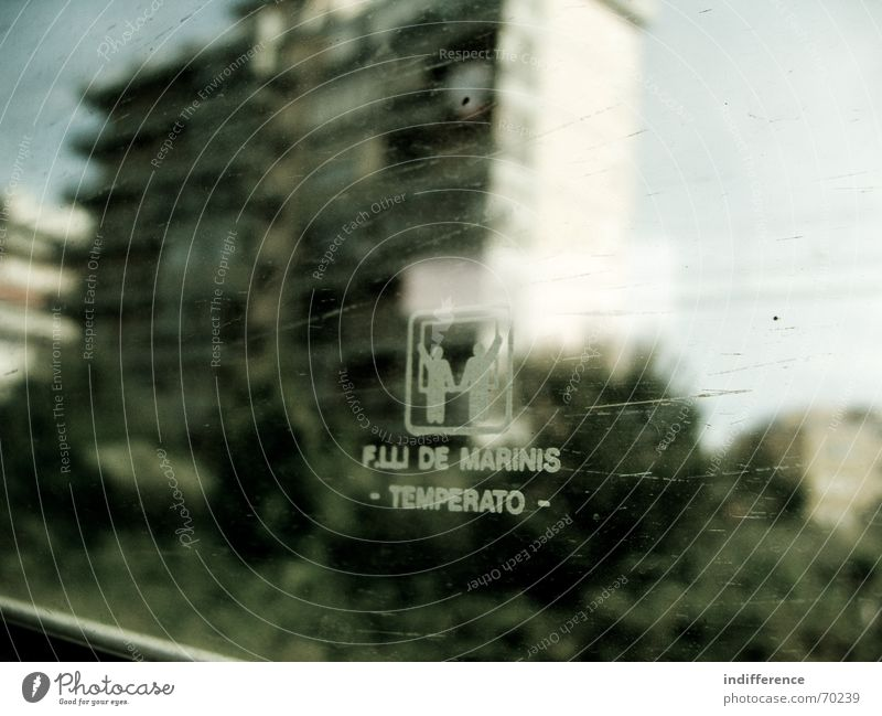 through the window serie. Town Nature Italy Vacation & Travel train building glass dirty tree tuscany blur motion