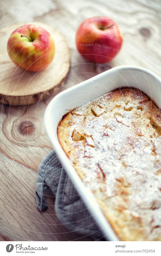 Apple pancake from the oven Cake Dessert Candy Nutrition Buffet Brunch Slow food Delicious Sweet Colour photo Interior shot Deserted Day Shallow depth of field