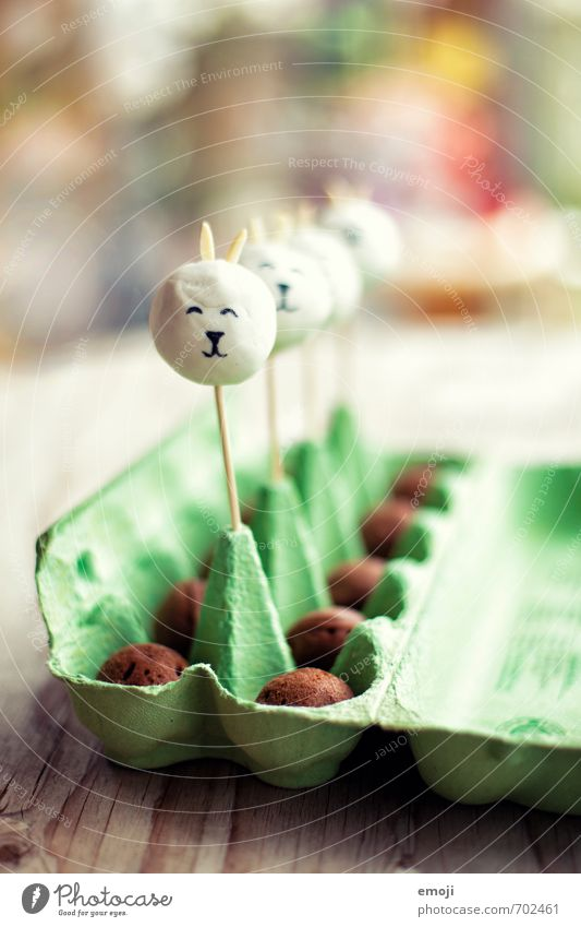 bunny cake pops Cake Candy Nutrition Picnic Slow food Finger food Delicious Sweet Easter Easter Bunny Easter egg Colour photo Interior shot Close-up Deserted
