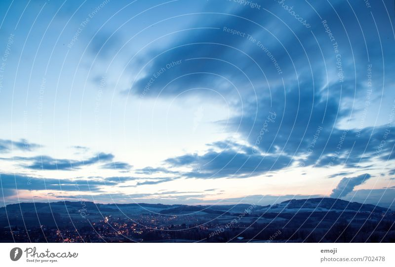 Sky Nature Blue Landscape Cold Environment Hill Night sky