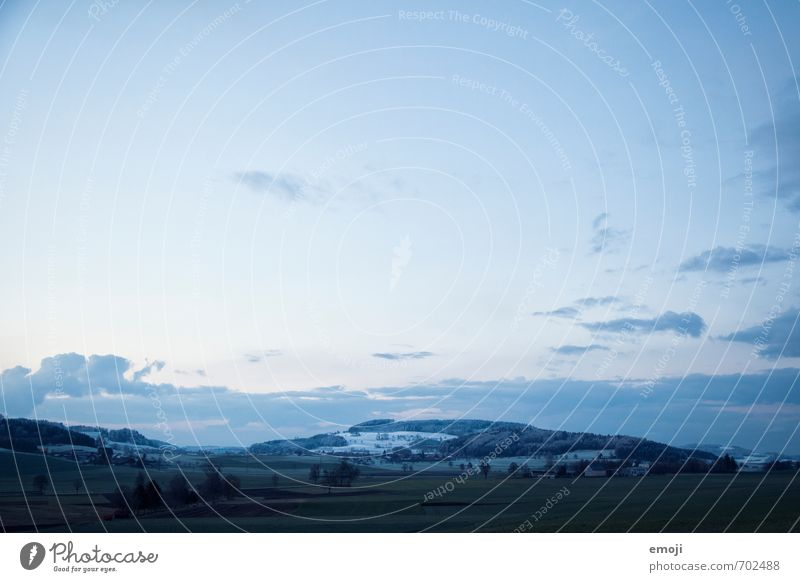 April Environment Nature Landscape Sky Spring Climate Weather Snow Meadow Field Hill Cold Blue Colour photo Exterior shot Deserted Evening Twilight Low-key