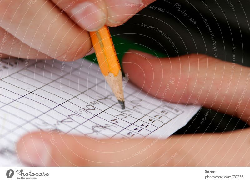 WRITE IT DOWN! Write Pencil Piece of paper Fingers Mini golf Kniffel Block Playing Digits and numbers Success 18 holes balance
