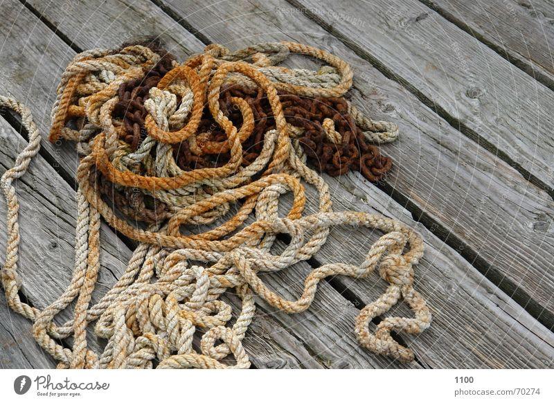 Wood Rope Harbour String Footbridge Jetty Chain