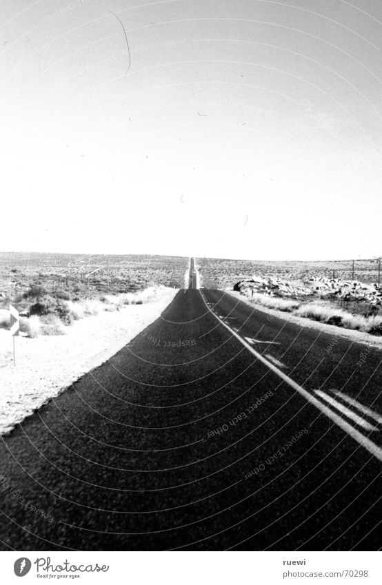 White Black Far-off places Street Freedom Transport Desert Infinity Hot Long Africa Traffic infrastructure Namibia