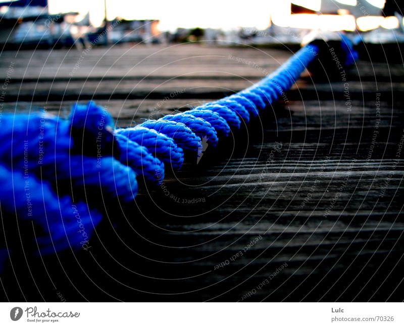 Blue Rope Wood flour Dock Sky blue rope boat water bay horizon