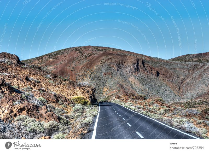Street in Teidekrater Vacation & Travel Tourism Expedition Ocean Island Nature Landscape Rock Volcano Architecture Calm Loneliness Geography Spain Tenerife