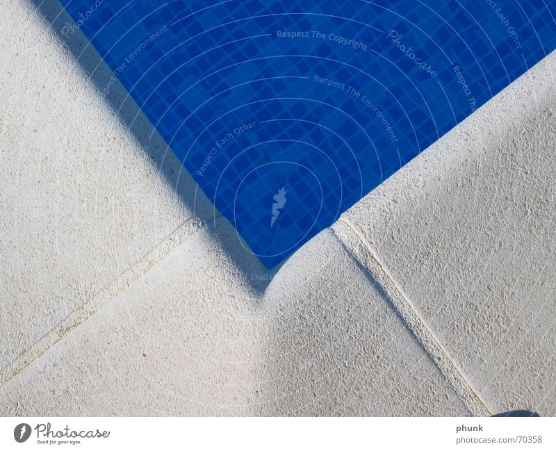 pooleck Swimming pool Wet Cold Cooling Glimmer Water Blue Corner Stone