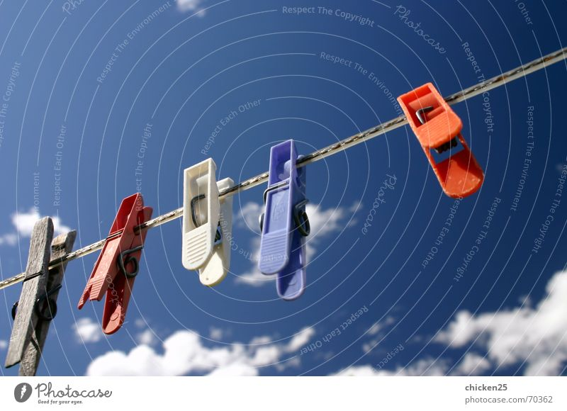 Sky Clouds Rope Laundry Holder Clothes peg