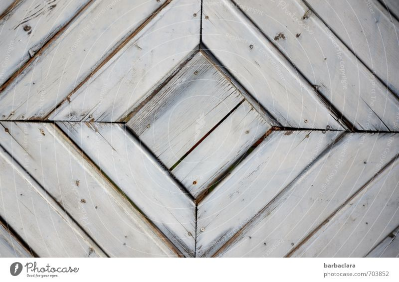 geometric | square in square Living or residing Door Wood Line Gray Design Protection Safety Symmetry Geometry Square Subdued colour Exterior shot Detail