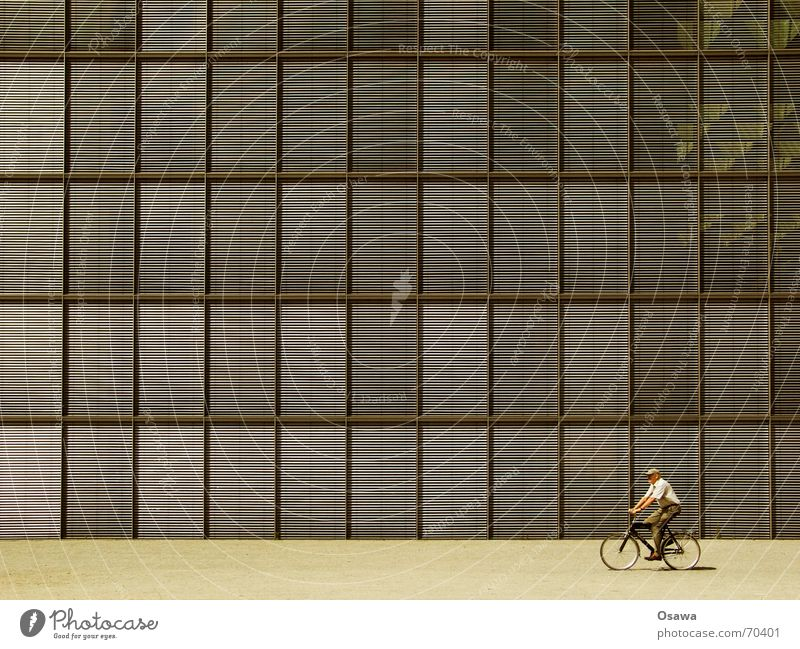 Man House (Residential Structure) Window Senior citizen Architecture Building Facade Cycling Section of image Partially visible Grid Glas facade