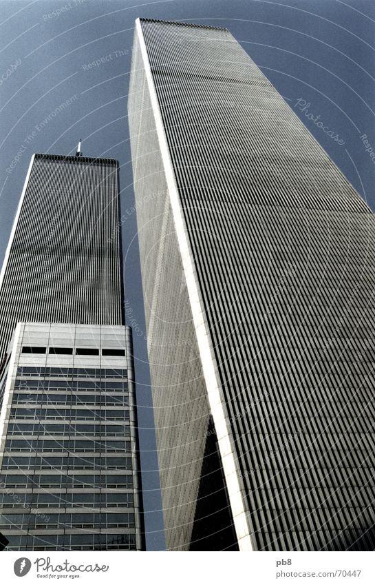 Sky City Building Tall Facade USA New York City Memory Manhattan World Trade Center