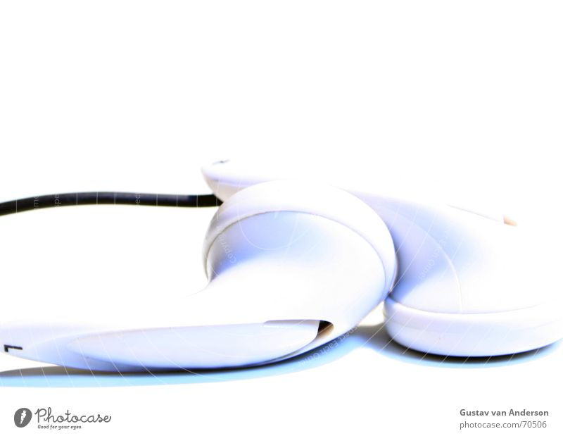White Calm Music Keyword Cable Row Audience Headphones Left