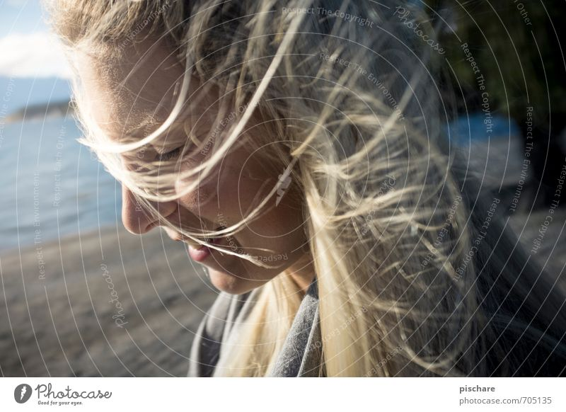 Pippo's Dream Feminine Young woman Youth (Young adults) Face 1 Human being Blonde Long-haired Smiling Esthetic Beautiful Emotions Happy Happiness
