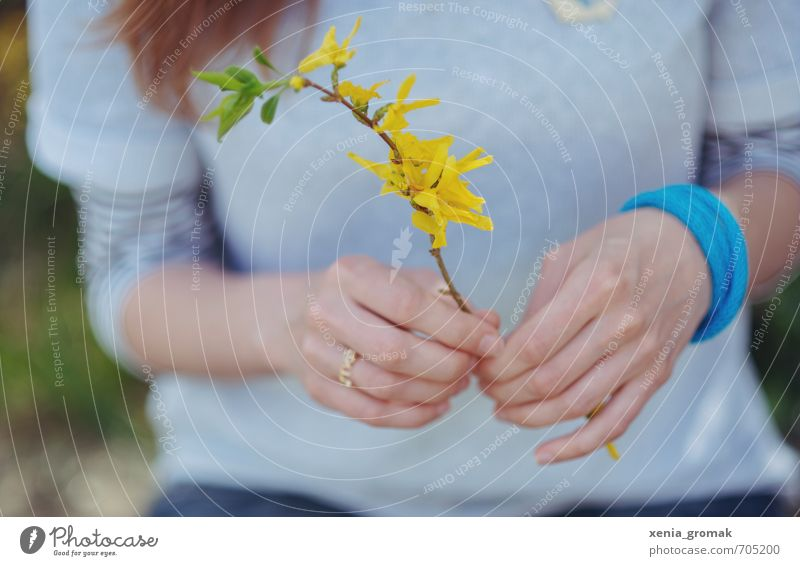 Human being Woman Nature Vacation & Travel Youth (Young adults) Plant Summer Young woman Hand Environment Adults Yellow Life Feminine Spring Blossom