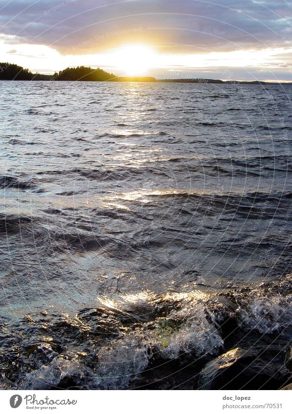 Crystal Lake_theBigOne Recently Take Confirm Waves Dazzle Sunset Far-off places Swell Dusk Clouds Panorama (View) White crest Foam Surf Coast Finland 2006