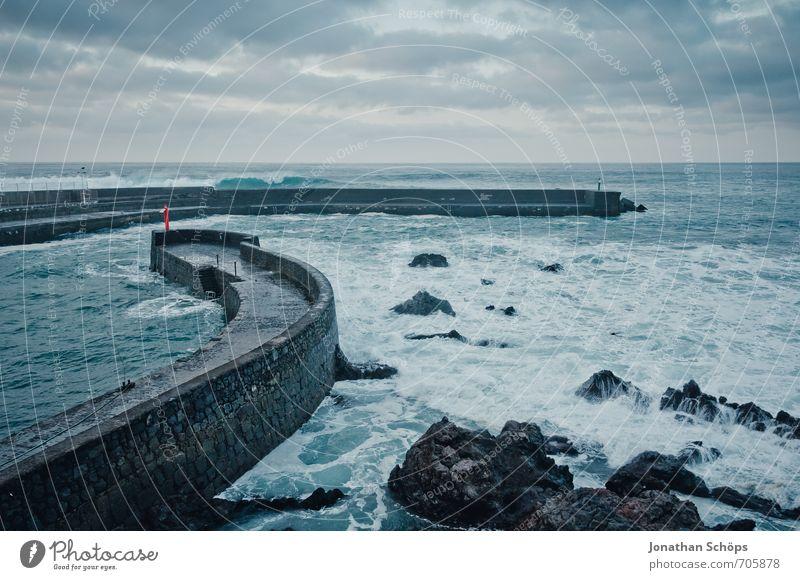 Puerto de la Cruz / Tenerife XL Environment Landscape Threat Canaries Atlantic Ocean Waves Long exposure Vacation & Travel Evening Cold Wind