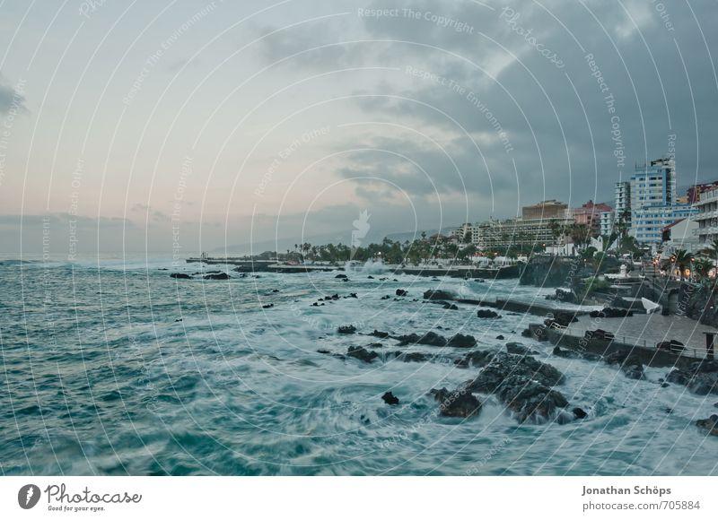 Puerto de la Cruz / Tenerife XXXIX Environment Nature Landscape Small Town Outskirts Populated Threat Canaries Atlantic Ocean Waves Long exposure