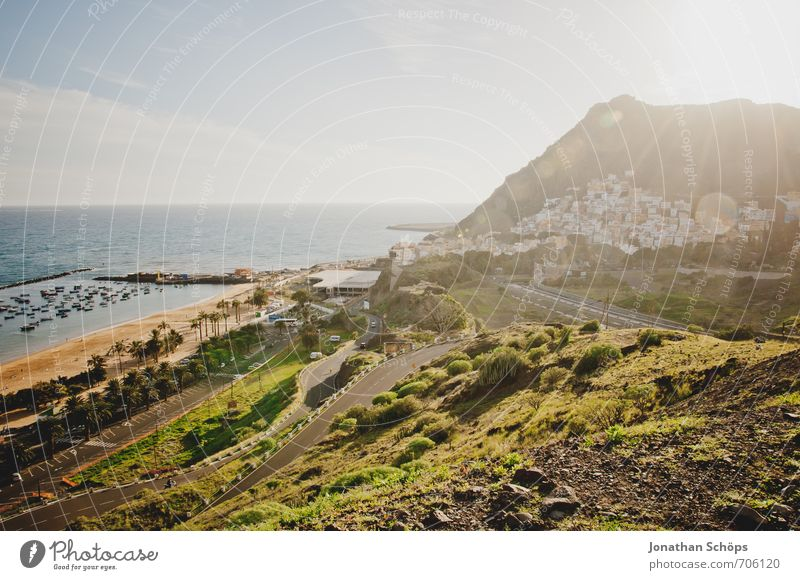 San Andrés / Tenerife XXXVIII Environment Nature Landscape Plant Sky Sun Sunlight Summer Beautiful weather Rock Mountain Waves Coast Beach Bay Ocean Island