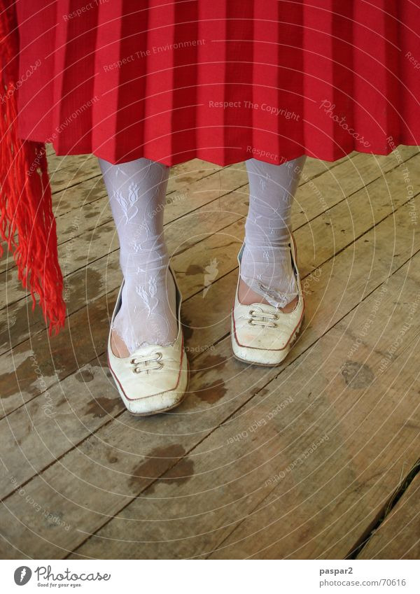 yes, but... Pleated skirt Stockings Footwear Red White Woman Girl Hallway Detail Feet Funny