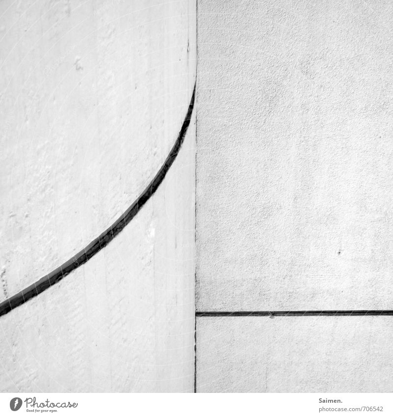 White Calm Wall (building) Wall (barrier) Line Facade Contentment Simple Sharp-edged Divide Converse Curved