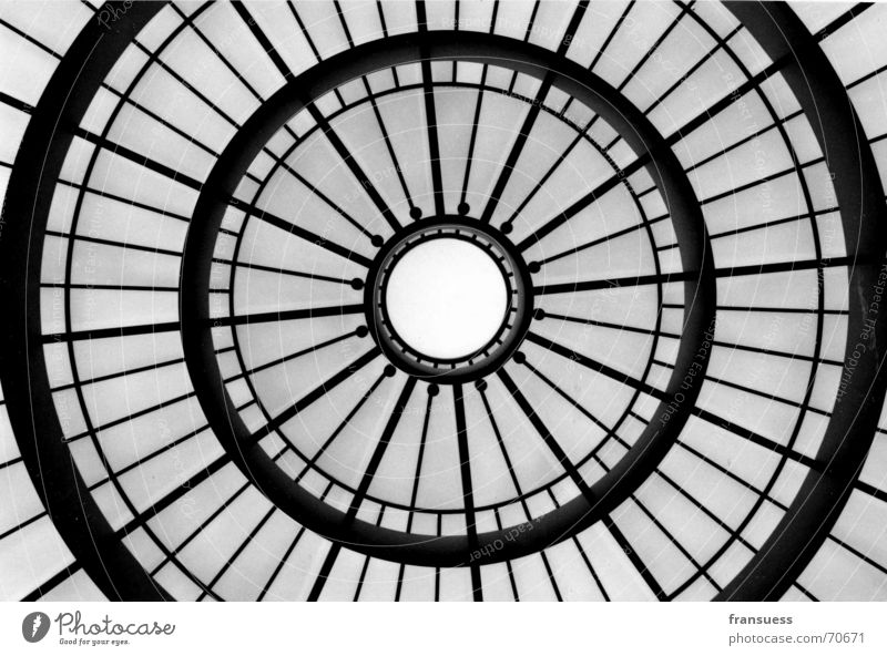 cupola Domed roof Roof Munich Exhibition Art Picture gallery Pinakothek of Modern Art Glass Black & white photo Museum Structures and shapes