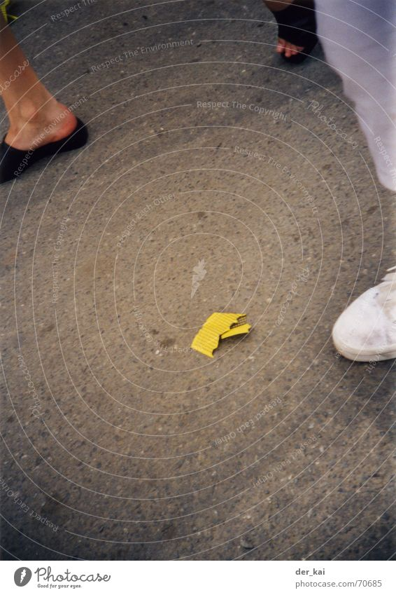Street Feet Footwear Asphalt Fairs & Carnivals Piece of paper Fate Pornography Rivet 1999 Shooting match