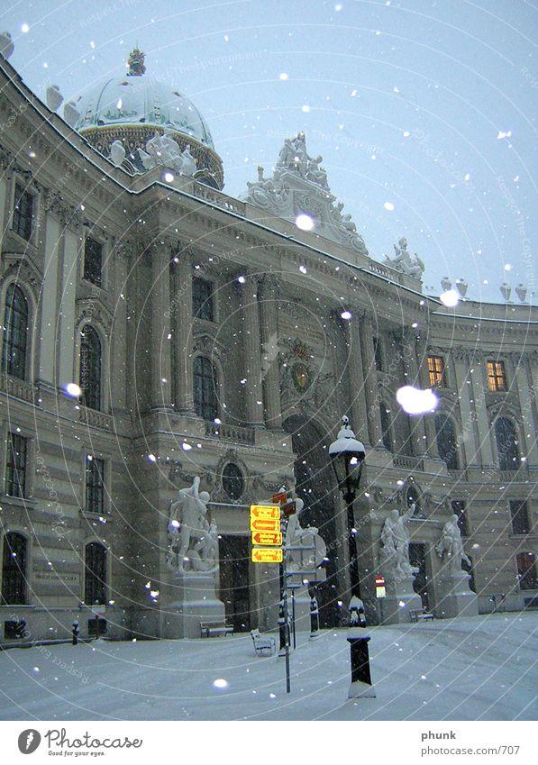 Vienna Winter Austria Flash photo Twilight Cold Architecture Snow Morning