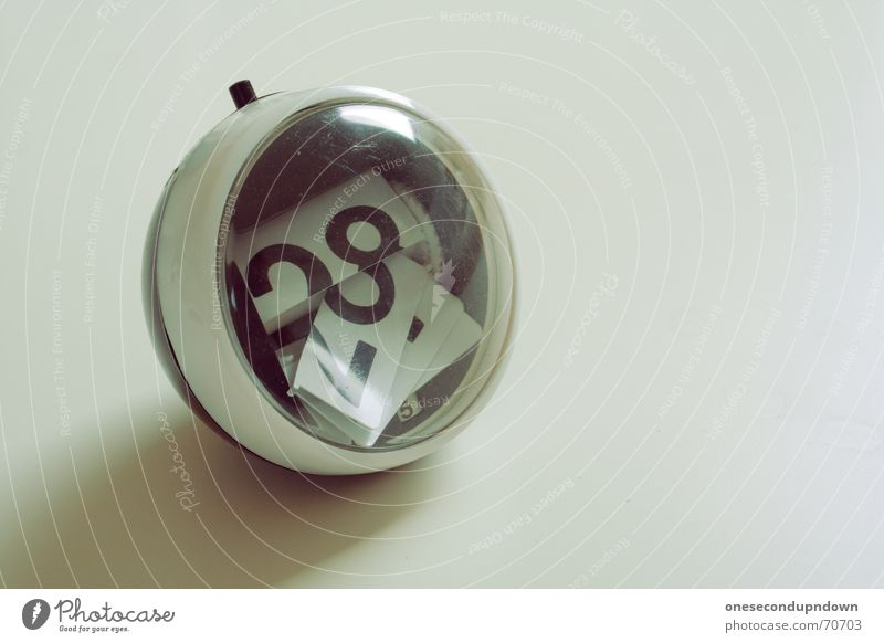Style Time Retro Ball Round Broken Digits and numbers Trash Sphere Derelict Foyer Calendar Destruction Seventies Sixties Ambient