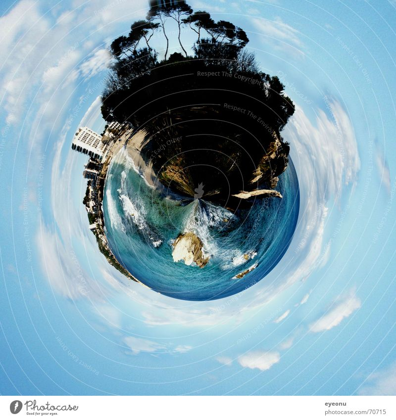 Planet Beach Islander Ocean Hotel Tree Summer Summery Tourism Multiple Globe Bathing place Mediterranean sea Panorama (View) Blue Earth Maximum