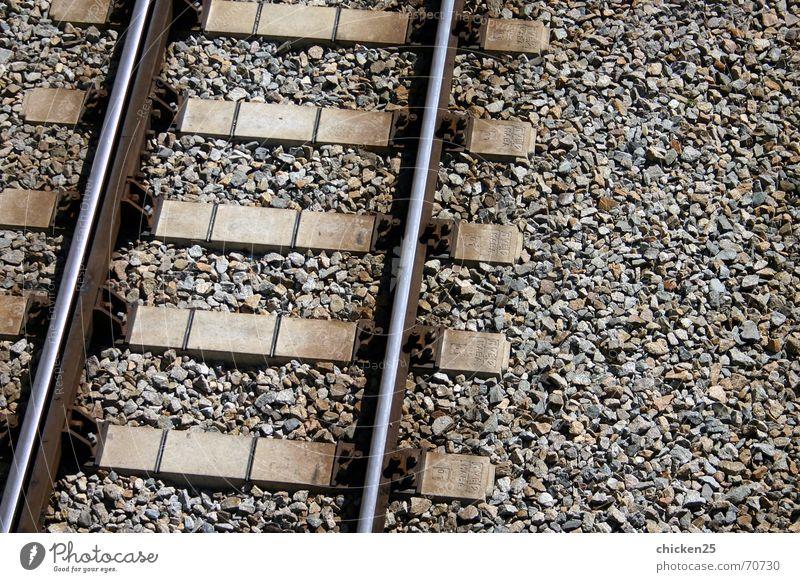Line Metal Railroad Railroad tracks Underground Gravel Iron Rung