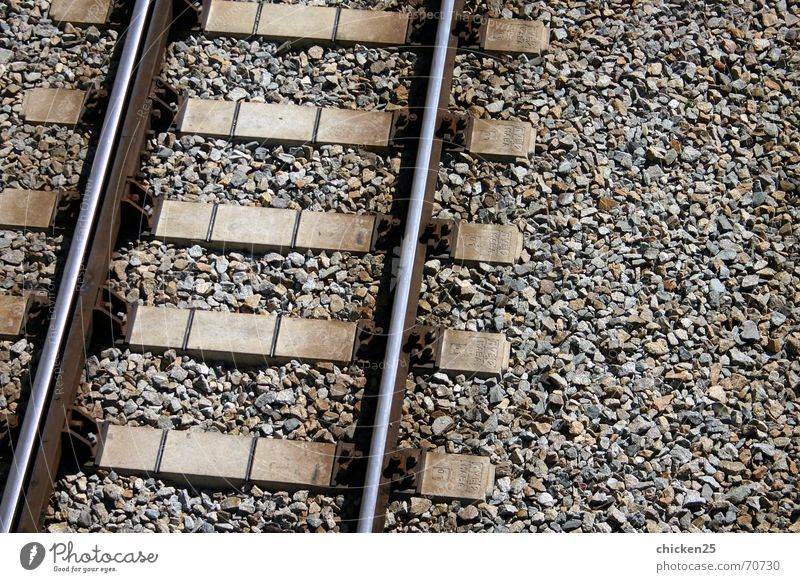 Line Metal Railroad Railroad tracks Underground Gravel Iron Rung