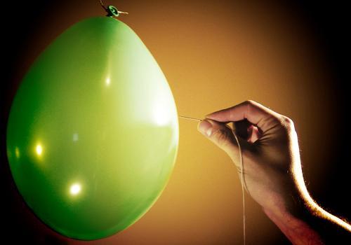 BÄNG Balloon Rubber Green Hand Fingers Air Bursting Pierce Yellow Black Needle Sewing thread Pinprick Sting