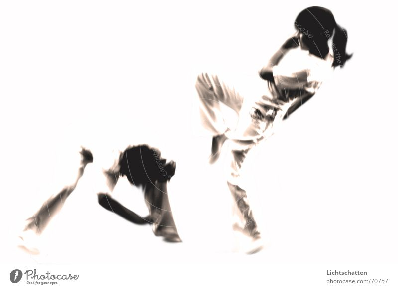 Woman Human being Man White Sports Movement Bright Dance Martial arts Fight Capoeira Bright background