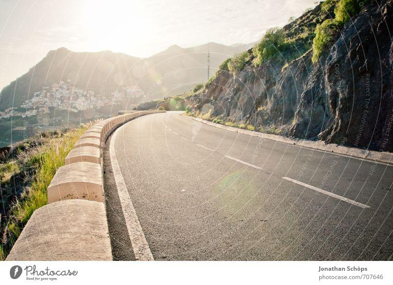 San Andrés / Tenerife XXX Nature Landscape Rock Mountain Peak Coast Bay Ocean Island Esthetic Traffic infrastructure Road traffic Street Roadside Curve Driving