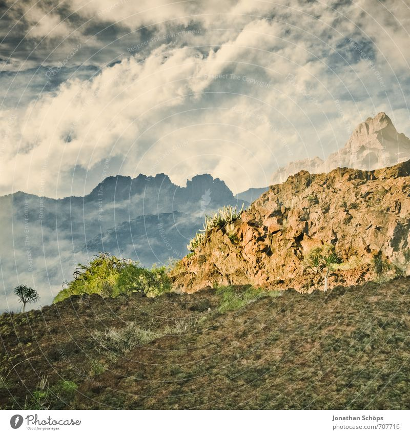 San Andrés / Tenerife XX Environment Nature Landscape Earth Sky Clouds Rock Mountain Island Esthetic Effort Whimsical Mostly Double exposure Fusion Canaries