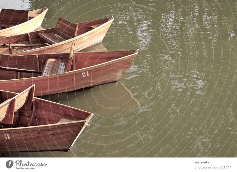 Sepia Boats Watercraft Wood Summer Brown Romance boat water reflection wooden Bench romantic