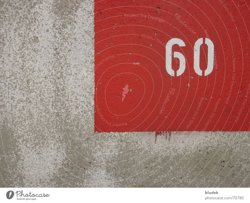 Red Wall (building) Wall (barrier) Concrete Digits and numbers Symbols and metaphors