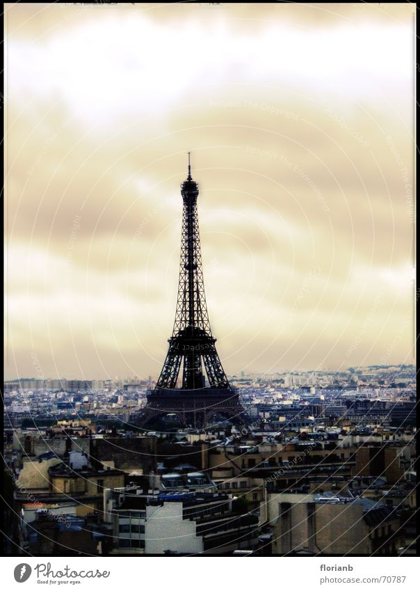 Sky City Joy House (Residential Structure) Clouds Landscape Orange Europe Tower Paris France Eiffel Tower